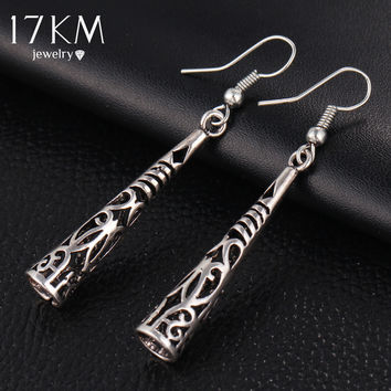 Vintage Silver Color Tassel Drop Earring Bohemia Fashion Women Pendant Dangle Earrings Tibetan Pendiente