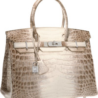 ONE & ONLY HERMES BIRKIN BAG 30cm MATTE HIMALAYAN CROCODILE 18K & DIAMOND