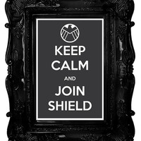 Keep Calm and Join Shield (The Avengers) 8 x 12 Keep Calm and Carry On Parody Poster