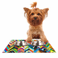 "Frederic Levy-Hadida ""Chevrons"" Rainbow Dog Place Mat"