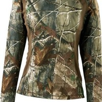 Cabela's Women's OutfitHER™ Active Series V-Neck Long-Sleeve Knit Shirt