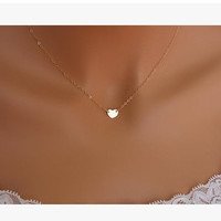 small accessories heart necklace short design chain gold necklaces & pendants (With Thanksgiving&Christmas Gift Box)= 1669162372