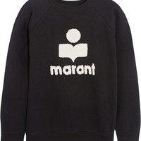 Étoile Isabel Marant - Cody terry-embroidered cotton-blend jersey sweatshirt