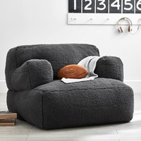 Charcoal Sherpa Eco Lounger