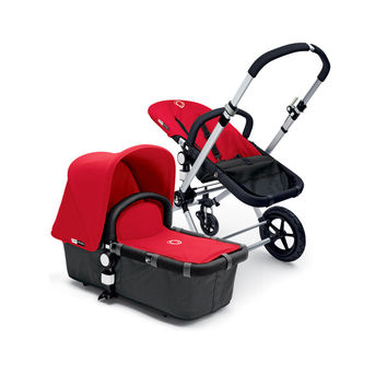 Bugaboo Cameleon w/ Portable Bassinet (Grey/Red)
