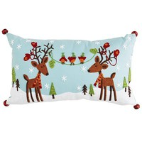 Holiday Reindeer Pillow
