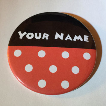 Personalized Minnie Mouse Inspired 3 Inch Button