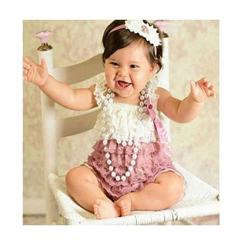 Baby Lace Rompers Newborn lucky child photography Lace Petti Romper Baby Girls Christmas Clothes Infant Next Birthday Clothing