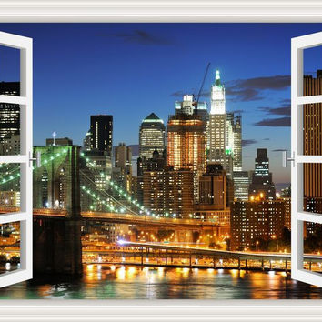 New York Brooklyn 3D Wall Sticker