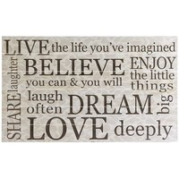 Live & Dream Wall Decor