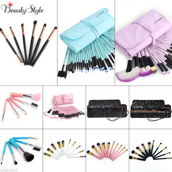 Professional Vander Gift Bag Of Makeup Sets 32pcs Make Up Bag Brush Full Cosmetics Brushes Eyebrow Powder Lipsticks Shadows Kits