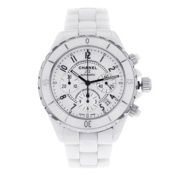 Chanel J12 H1007 White Ceramic Chronograph Automatic Unisex Watch