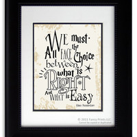 Harry Potter movie quote print Albus Dumbledore We Must All Face The Choice..  Kids Room print wall decor Christmas Gift Inspirational