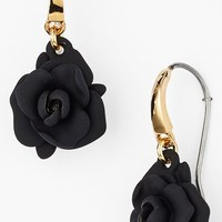 Women's MARC BY MARC JACOBS 'Jerrie Rose' Rubber Drop Earrings - Black/ Oro