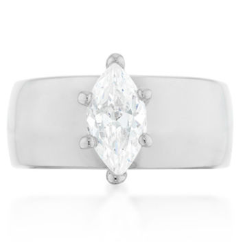 Janke Solitaire Marquise Statement  Engagement Ring | 1.5ct | Cubic Zirconia | Silver