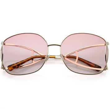 Oversize Women's High End Fashion Metal Sunglasses C156