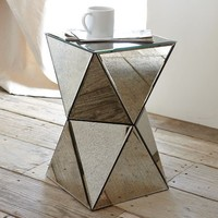 Faceted Mirror Side Table | west elm