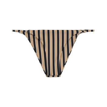 SKIN - String Bottom | Tan/Black Stripe
