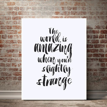 Printable Word Art, The World Is Amazing, Motivational Printable, Inspirational Quote, Typographic Printable,Instant Download