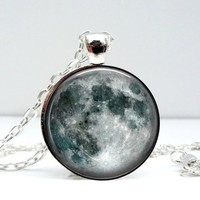 Moon Dome Pendant Necklace