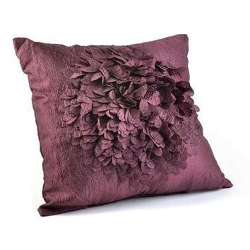 Plum Ruffled Lorna Pillow at Kirkland's