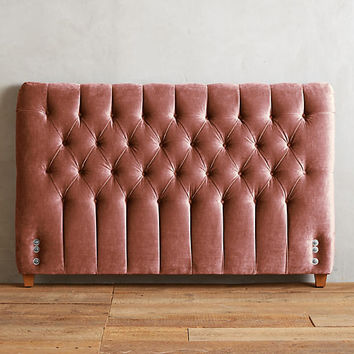 Slub Velvet Tufted Lena Headboard
