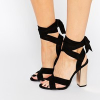 Truffle Collection | Truffle Tie Ankle High Block Heel Sandals at ASOS