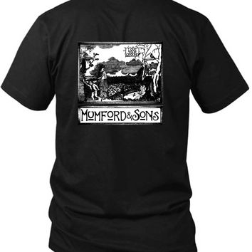Mumford And Sons Love Your Ground 2 Sided Black Mens T Shirt