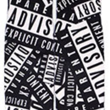 Parental Advisory Explicit Content All Over Print Custom Printed High Long Cotton Socks