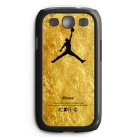 Michael Jordan Golden Gold Pattern Samsung Galaxy S3 Case