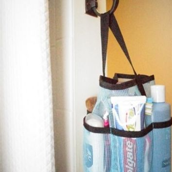Canvas Black Mesh Tote - STRONGEST Shower Bag Dorm Shower Tote Needed For College Students