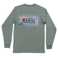 Long Sleeve North Carolina Backroads Collection Tee in Bay Green by Southern Marsh - FINAL SALE