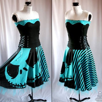 Nightmare Before Christmas pumpkin king corset dress - handmade custom size - smarmyclothes
