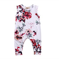 Baby Girls Romper Sleeveless Cute Flower Outfits Sunsuit Clothing Kid Newborn Summer Girls Clothes Toddler Baby Girl