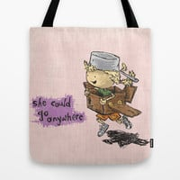 She Could Go Anywhere Tote Bag by Even In Death