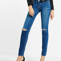 Distressed Low Rise Express Tech Jean Legging from EXPRESS