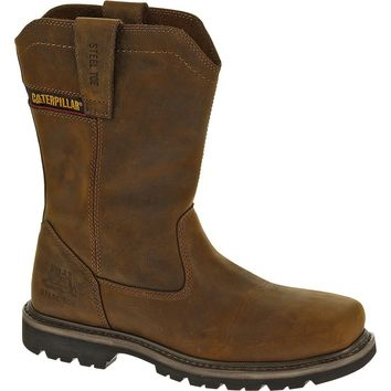 Cat® P90439-11-5M Caterpillar® Wellston Pull On Steel Toe Work Boot, Brown, 11.5 M