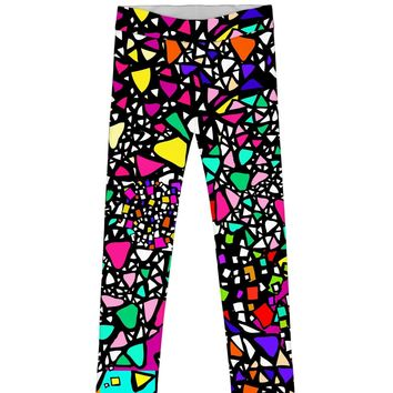 In a Joyful Mood Lucy Bold Printed Unique Leggings - Girls