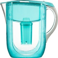 Brita Grand Water Filter Pitcher, Turquoise Versailles, 10 Cup
