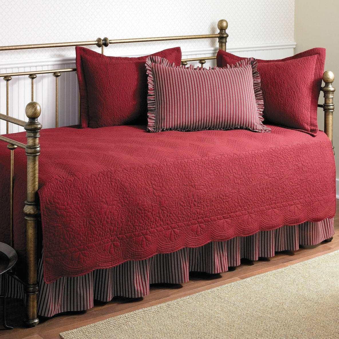 Twin Size 5 Piece Daybed Cover Ensemble From Hearts Attic