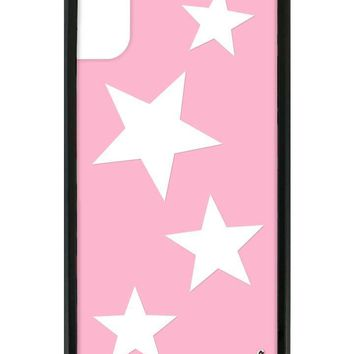 Pink Vinyl Stars iPhone X Case