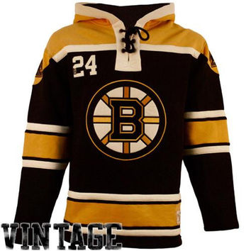 Boston Bruins Old Time Hockey Home Lace Heavyweight Hoodie – Black