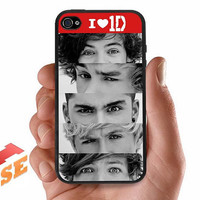 One Direction . iPhone case for iphone 4/4S.  Rubber/Silicone or Hard Plastic Case.