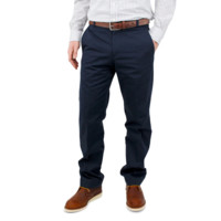 100% COTTON NAVY TWILL CHINO – CHADBOURN TAPER FIT – 8 OZ