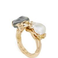 One of a Kind Double Pearls Ring