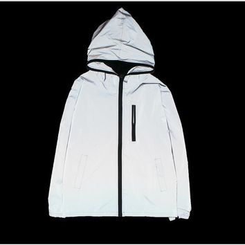 Full 3m reflective jacket plain