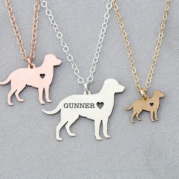 FREE SHIP • Labrador Retriever Jewelry • Retriever Dog Jewelry • Labrador Dog Pendant •Handmade Dog Pet Memorial Pet Silhouette New Pet Gift