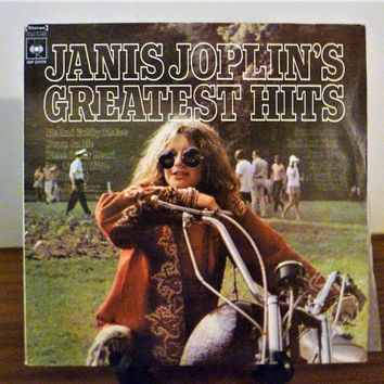 "Vintage 1973 Janis Joplin ""Janis Joplin's Greatest Hits"" Vinyl LP Album Released by CBS Records / Retro Blues Rock Album"