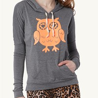 Neon Owl Hooded Pullover
