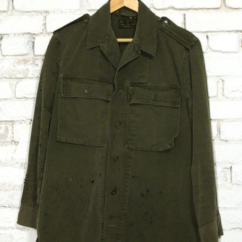 totally blown x pskaufman... army green dutch fatigue jacket
